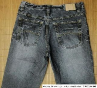 ANGELO LITRICO ALCW Jeans, straight leg, Gr. W34/L34   Grau, toller