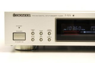 PIONEER FM/AM DIGITAL SYNTHESIZER TUNER F 701