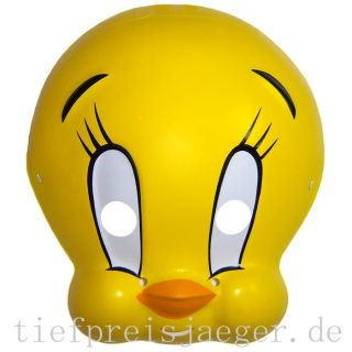 TWEETY MASKE Karneval Fasching Looney Tunes Kinder Kostüm Film Comic