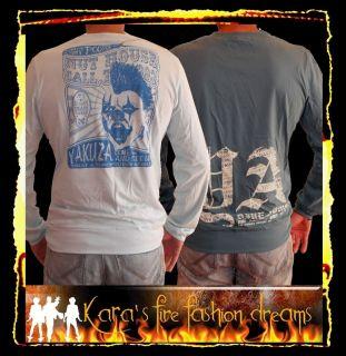 YAKUZA Langarm Shirt ♥ WendeShirt ♥ 2 farbig ♥ ♥ SIZE XL