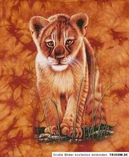 Kinder T SHIRT LÖWE, Gr.110*116 , 4 6 J.,Afrika Steppe Zoo, Raubkatze