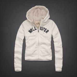 Hollister by Abercrombie Damen SHERPA hoodie Pullover Winter Jacke Neu