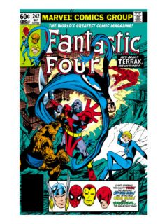 Fantastic Four #242 Cover Terrax, Human Torch, Thing, Invisible Woman and Mr. Fantastic Fighting Posters by John Byrne