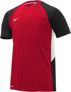 Nike Herren Shirt Shortsleeve Team Poly TR Rot/Schwarz/Weiß