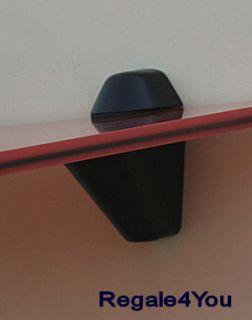 Glasregal Welle 50cm rot rubinrot Clip M versch Farben Regal Wandregal