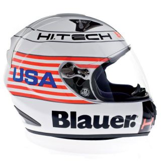 Blauer Force One USA white helmet full face Helm TOPDESIGN size XL