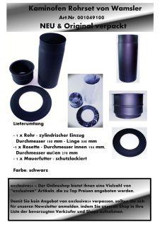 NEU Wamsler Kamin Ofen Rohr Rohrset Kaminofen Set Ofenrohr schwarz