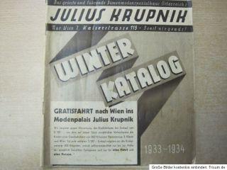Julius Krupnik Wien Winter Katalog 1933 Modehaus 1070 Wien Damenmode