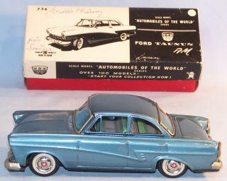 Bandai 726 Ford Taunus 17M, 60er Original im OK (22870)