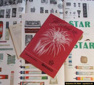 Berckholtz / Star Feuerwerk Katalog von 1963 / 1964   mit Preislisten