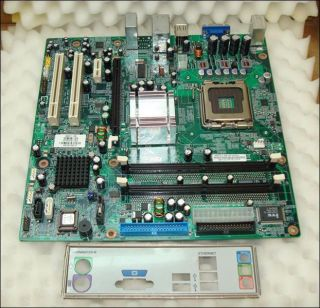 HP 5189 0610 945GCT HM REV1.0B Socket 775 Motherboard With I/O Plate