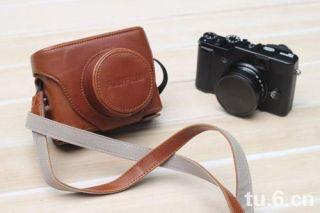 Leather Case bag For Fujifilm Fuji LC X10 X10 Finepix Camera Brown New