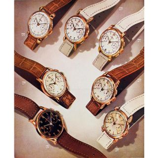 BREITLING Uhr Chronograph Cadette 1757 18 Kt Rose Gold