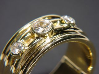 Moderner Band Ring mit 0,90 Carat antik Diamanten / GOLD 750