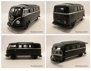 VW T1 Microbus 1962 schwarz matt schwarz Black Bandit Modellauto 1 18