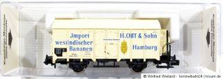 Fleischmann 8837 Güterwagen Import westindisch. Bananen K.P.E.V