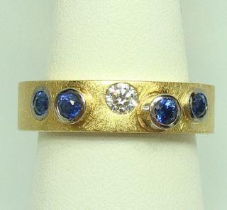carat Brillant und Saphire 750 Gold Gr.60 bei Familienbetrieb