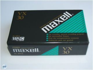 MAXELL Epitaxial EC 30 VX VHS C Camcorder Video Kassette NEU SEALED