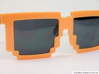 Old School Games Sonnenbrille 8 Bit Pixel Style Gamer Party Brille