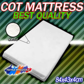 COT/CRIB BABY BED MATTRESS BREATHABLE QUILTED 84x43x4cm