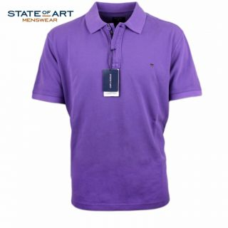 State of Art Polo Shirt uni flider lila NEU Gr. M   XXL Poloshirt