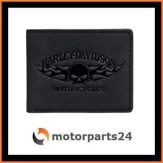 Harley Davidson Skull mit Flames Geldbörse Geldbeutel 99441 13VM
