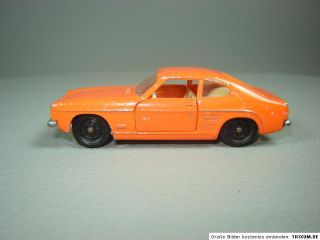 Ford Capri 1 orange Siku V Serie V310 PKW Modell Oldtimer Modellauto