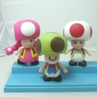 Product Name  3pcs Nintendo Super Mario Toad ,Toadette,Toadsworth