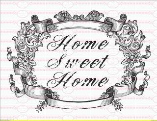 Home Sweet Home  Shabby Vintage A4 NO. 761 Nostalgie