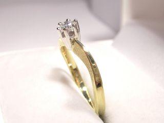 Damenring 585 er Gelbgold / 1 Brillant ca. 0,19 ct