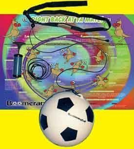 BOOMERANG BALL SOCCER SPORTS TRAINER see video inside