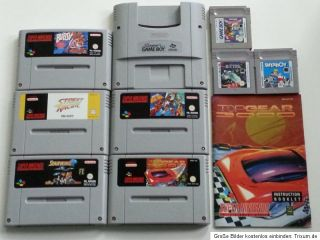 Super Nintendo SNES Konsole + 2 Controller + Super Game Boy + 8 Spiele