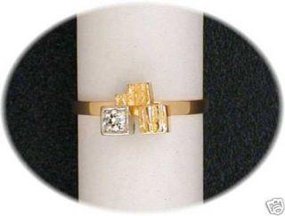 ORIGINAL LAPPONIA RING DIAMOND TURRET GOLD/ PLATIN