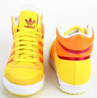 Adidas Schuhe Top Ten Hi Sleek gelb orange Gr. 39 1/3