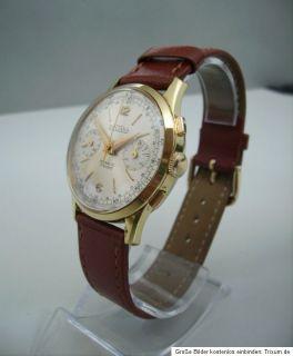 SULTANA Chronograph Handaufzug alte ARMBANDUHR old mens Wrist watch