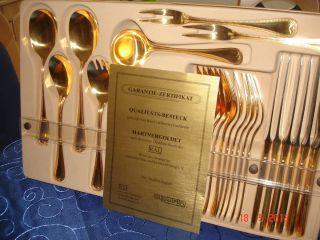 Goldbesteck Hartvergoldet 23 Karat Edelstahl Rostfrei Neu