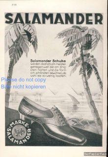 Salamander Schuhe Rekalme 1925 Nil Pyramiden Palmen Krokodil