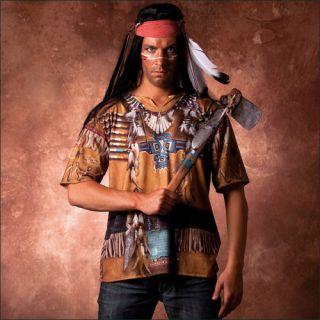 Indianer Shirt Indianerkostüm Kostüm Herrenkostüm Faschingskostüme