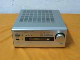 Onkyo R 811 RDS Stereo Receiver in silber mit 12 Monaten