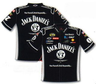 NASCAR Racing Team JACK DANIELS CLINT BOWYER Mens Black Pit Crew SHIRT