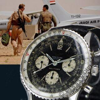 BREITLING Uhr 1. Generation Navitimer 806 Iraqi Airforce aus 1965