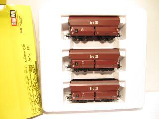 Brawa 2005 Güterwagen Kohlewagen 3er Set DB EP 3 KKK OVP NEU FU791
