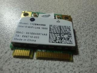 Intel 112BNHMW 802.11n Laptop Wireless Mini PCI e Card
