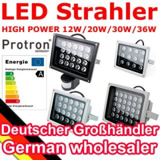 Protron 20 Watt High Power LED Fluter warmweiss IP65 Strahler mit