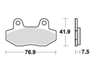 TRW Bremsbelag O Hyosung GT 125 R Supersport MCB822