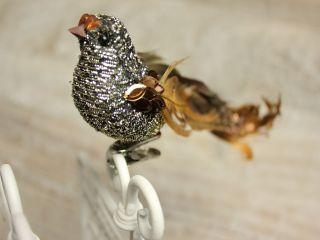 Vogel mit Clip Figur GOLD Dekofigur Weihnachtsdeko Weihnachten