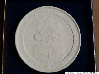 DDR Meissen Medaille, Ehrengeschenk FDJ Bezirksleitung Karl Marx Stadt