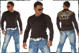 BranDNeW CluBWeaR Longsleeve Sweat Shirt M 830 BRAUN