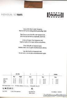 Wolford Strumpfhose INDIVIDUAL 10 TIGHTS Gr S gobi Original NEU UVP 29