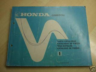 HONDA CB 650 z Ersatzteil Katalog Parts List CB650z